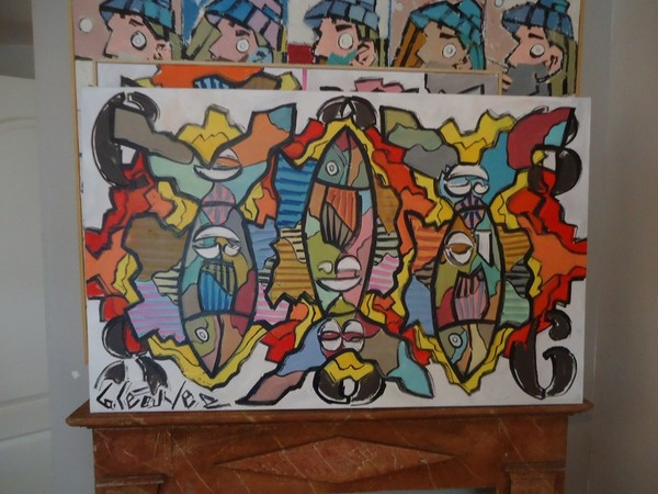 peinture poissons bruno lecuyer